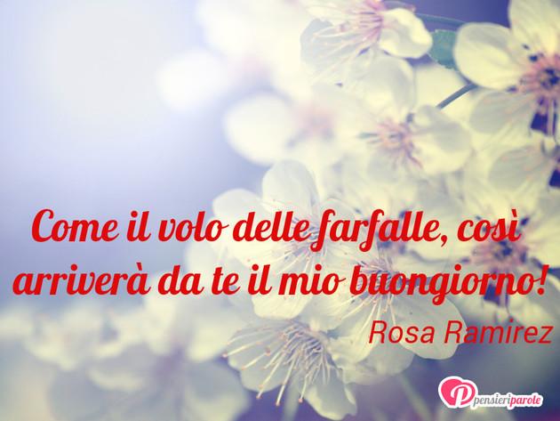 Immagine con augurio buongiorno di rosa ramirez come il for Immagini con frasi di buongiorno
