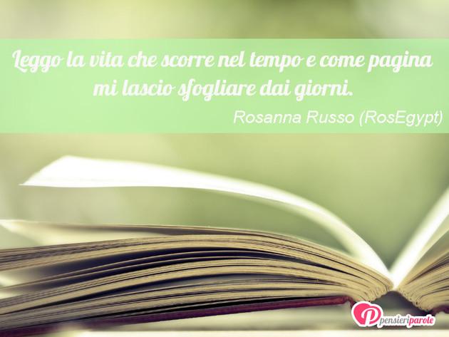 Super con frase vita di Rosanna Russo (RosEgypt) - Leggo la vita che  US84