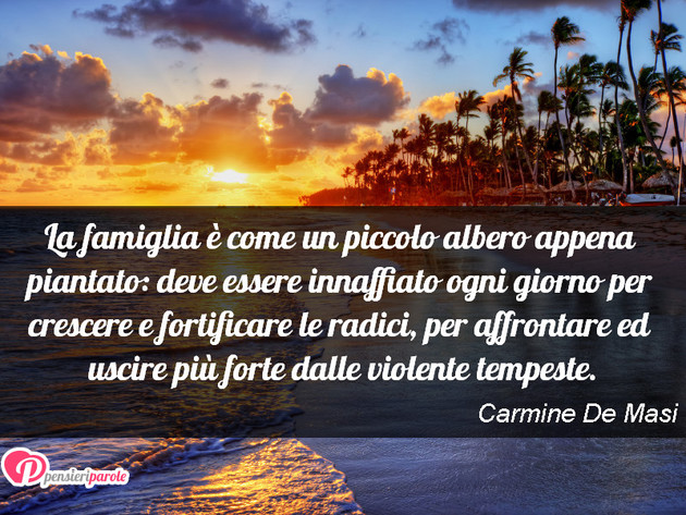Immagine Con Frase Famiglia Di Carmine De Masi La Famiglia è Come