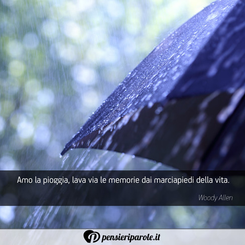 Preferenza Amo la pioggia, lava via le memorie dai - Woody Allen  KX54