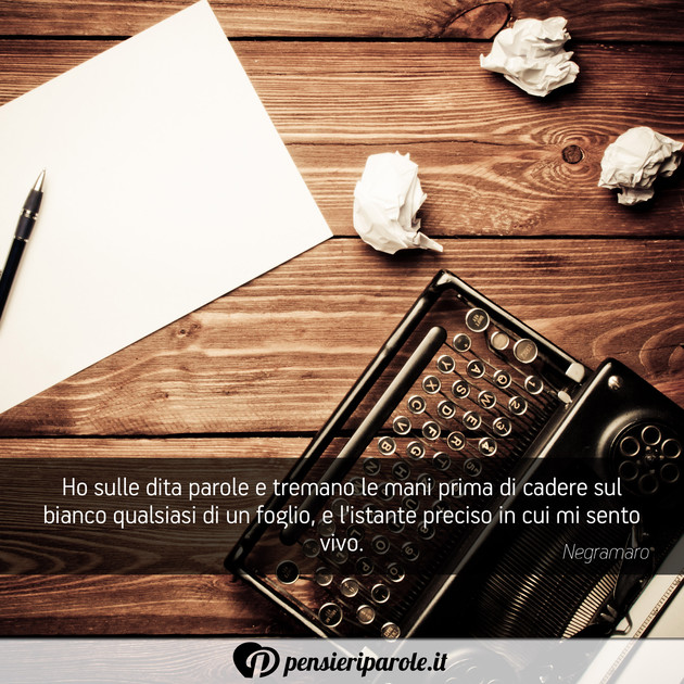 Immagine Con Frase Libri Di Negramaro Ho Sulle Dita Parole