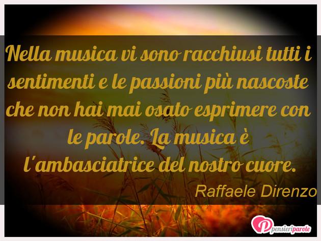Immagine Con Frase Musica Di Raffaele Direnzo Nella Musica