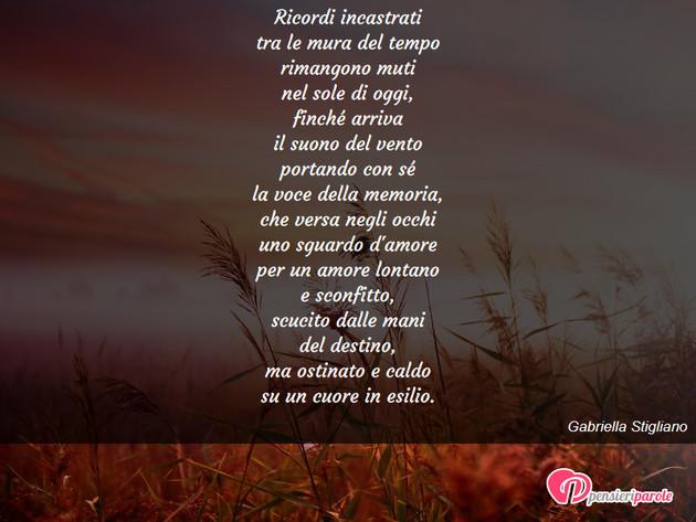 Famoso con poesia poesie personali di Gabriella Stigliano - Ricordi  HC06