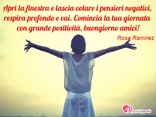 Immagine con augurio buongiorno di rosa ramirez apri la - Frasi la finestra di fronte ...