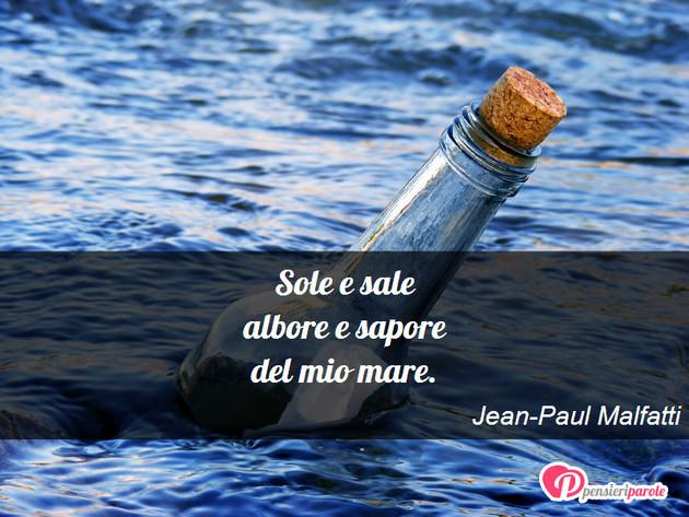 Immagine Con Poesia Haiku Di Jean Paul Malfatti Sole E