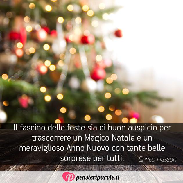 La Magia Del Natale Frasi.Immagine Con Augurio Auguri Di Natale Di Enrico Hasson Il