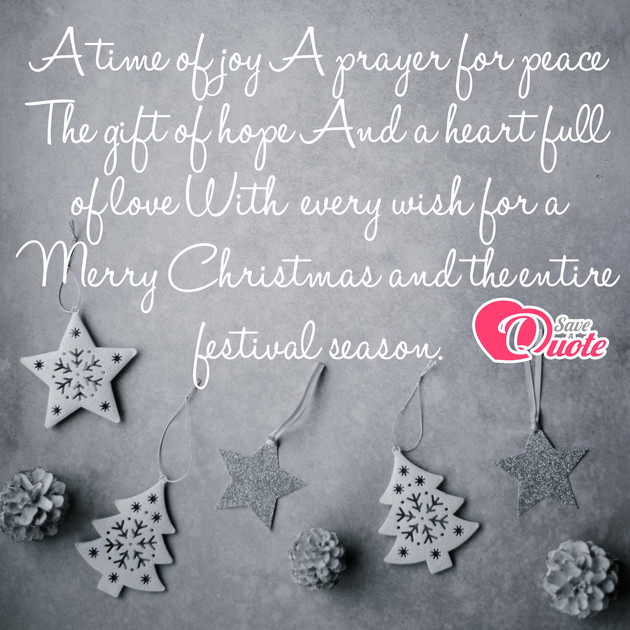 Picture With Quote Christmas Wishes A Time Of Joy A Prayer For