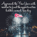 Picture with quote happy new year by Michael Josephson - Approach the New Year with resolve to find the...