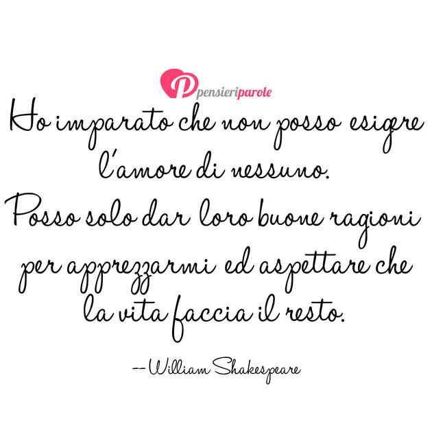 Frasi Matrimonio William Shakespeare.Immagine Con Frase Amore Di William Shakespeare Ho Imparato Che