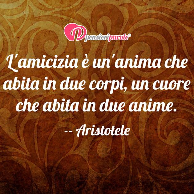 Immagine Con Frase Amicizia Di Aristotele L Amicizia E Un Anima