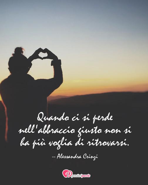 Immagine Con Frase Amore Di Alessandra Crinzi Quando Ci Si Perde