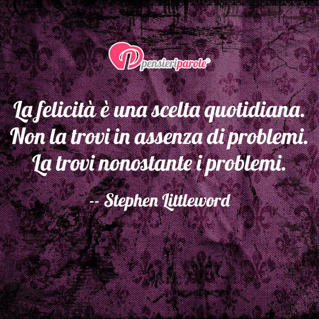 Top con frase felicità di Stephen Littleword - La felicità è una  VT03