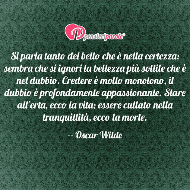 Immagine Con Frase Saggezza Di Oscar Wilde Si Parla Tanto