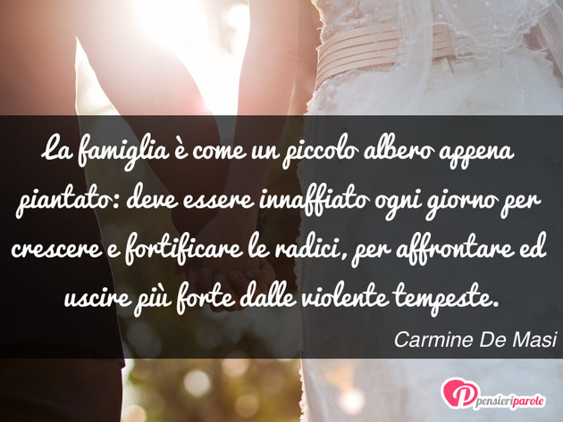 Immagine Con Frase Famiglia Di Carmine De Masi La Famiglia