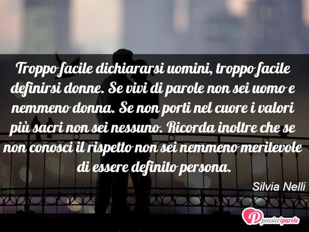 Immagine Con Frase Uomini Donne Di Silvia Nelli Troppo Facile