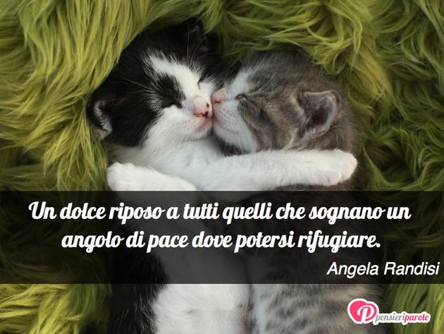 Favoloso con augurio buonanotte di Angela Randisi - Un dolce riposo a tutti  VP97