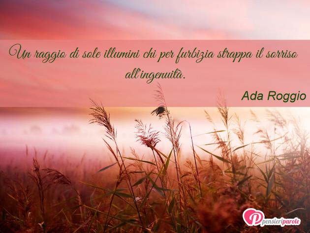 Immagine Con Frase Sorriso Di Ada Roggio Un Raggio Di Sole