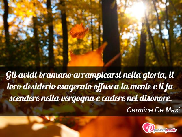 Immagine con frase ricchezza  povert di Carmine De Masi - Gli