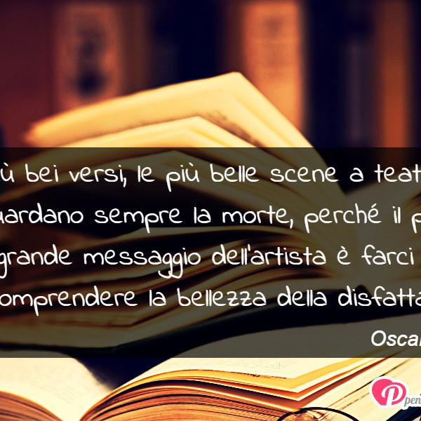 Immagine con frase morte di Oscar Wilde   I più bei versi, le più