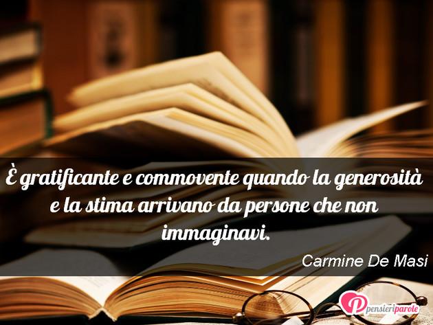 Immagine Con Frase Rispetto Di Carmine De Masi E Gratificante E