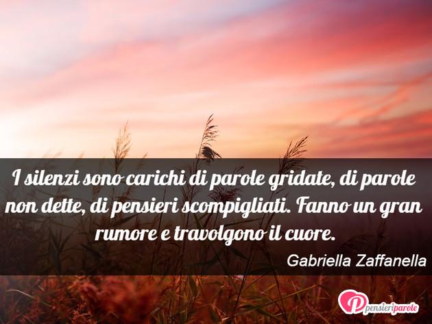 Immagine Con Frase Silenzio Di Gabriella Zaffanella I Silenzi